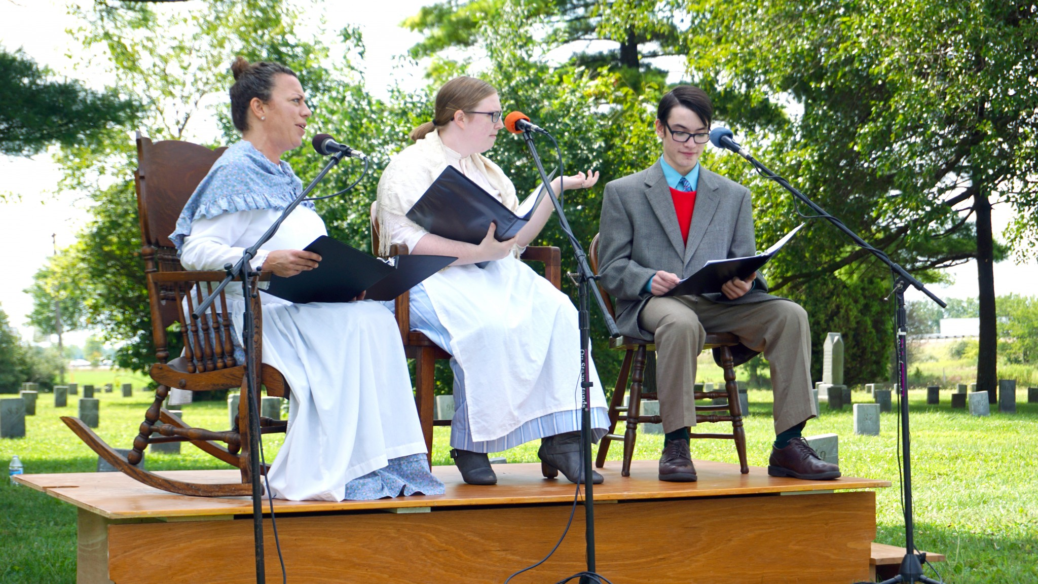 Local residents will portray early citizens of Wood County at Wood County Living History Day Sunday, Aug. 22 at 2 p.m. on the Wood County Museum grounds in Bowling Green. The event is free and open to the public. (Photo courtesy of Wood County Museum)