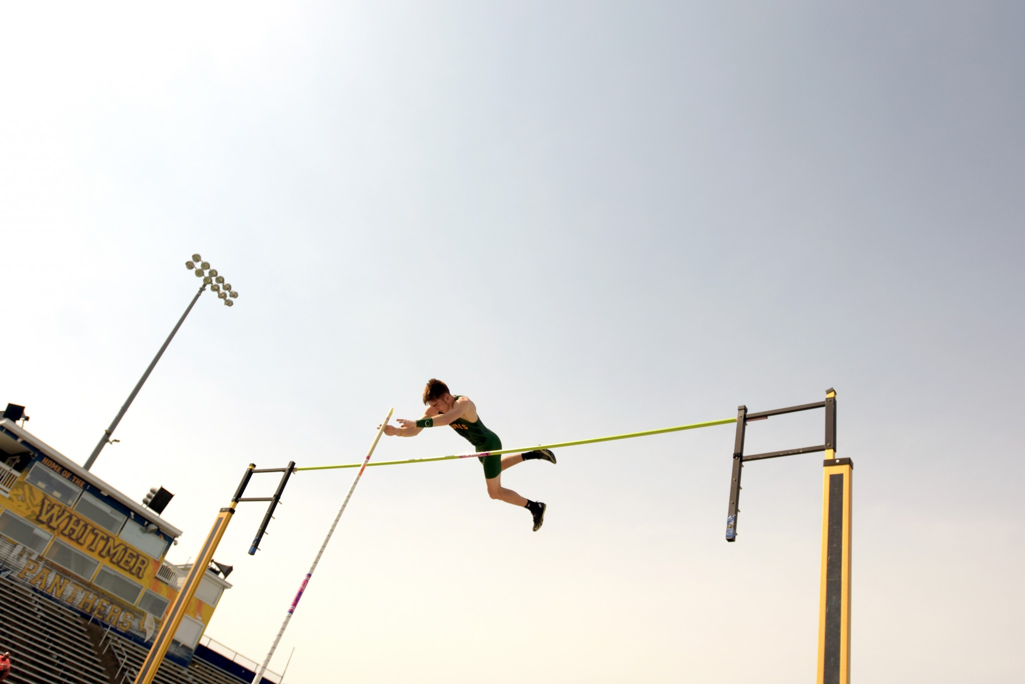 Clay state pole vault qualifier Andrew Mawhorter. (Photo by Clay yearbook staff member)
