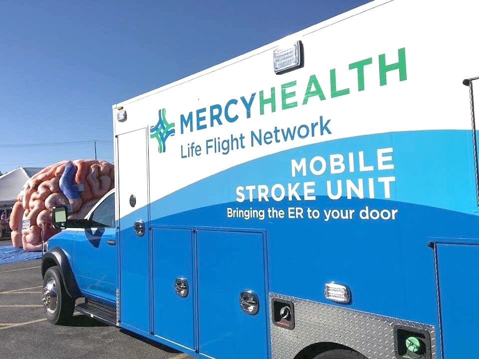 Results of a recent national clinical trial demonstrated that Mobile Stroke Units help stroke patients recover better, with reduced disability at 90 days. Mercy Health began delivering mobile, specialized stroke care Northwest Ohio in 2016. (Photo courtesy of Mercy Health)