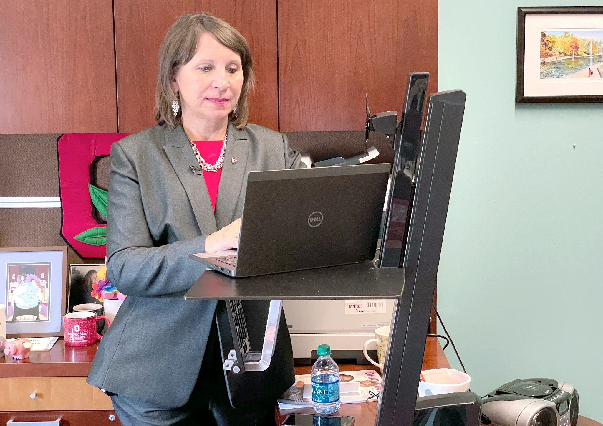 Ohio State chief wellness officer Bernadette Melnyk led a survey that found depression, anxiety and burnout levels are on the rise among students as they prepare to return to campus. (Photo courtesy of The Ohio State University Wexner Medical Center)