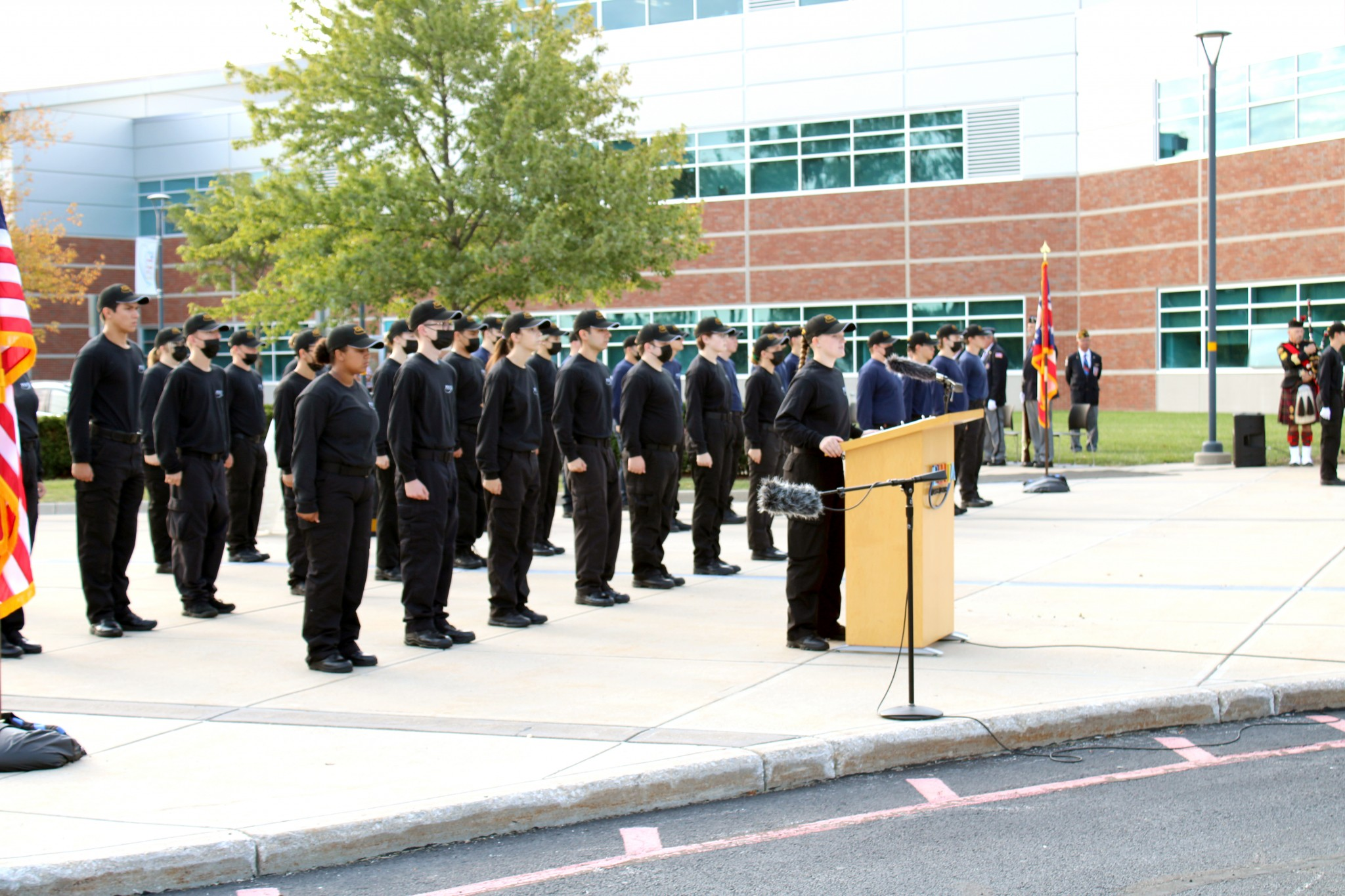 Meiah Smith (Northwood) from the Penta Career Center's Criminal Justice, served as the emcee and student speaker at the school's recent Patriot Day ceremony, held Sept. 10. (Submitted photo)