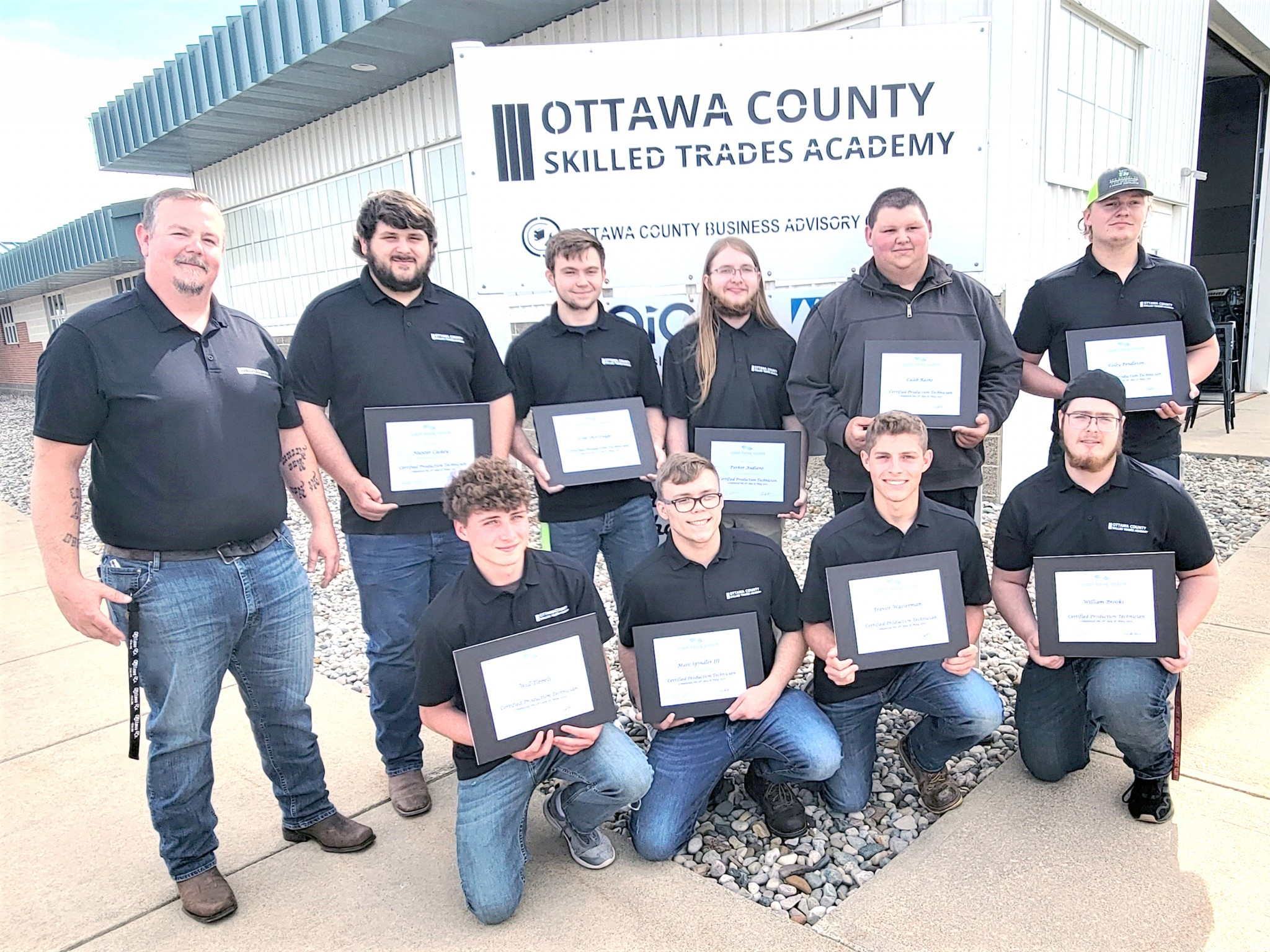 Ottawa County Skilled Trades Academy 2021 graduates with instructor Bill Hutchisson, Northwest State Community College/Customer Training Solutions. (Submitted photo)