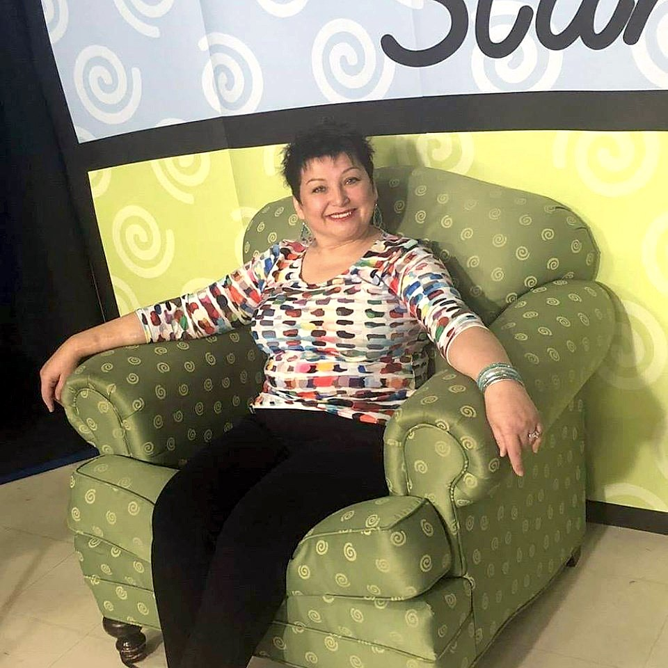 """Three-time kidney transplant recipient Sarah Satkowski recently sat in Life Connection of Ohio's """"Green Chair"""" to raise awareness of the importance of organ donation. (Submitted photo)"""
