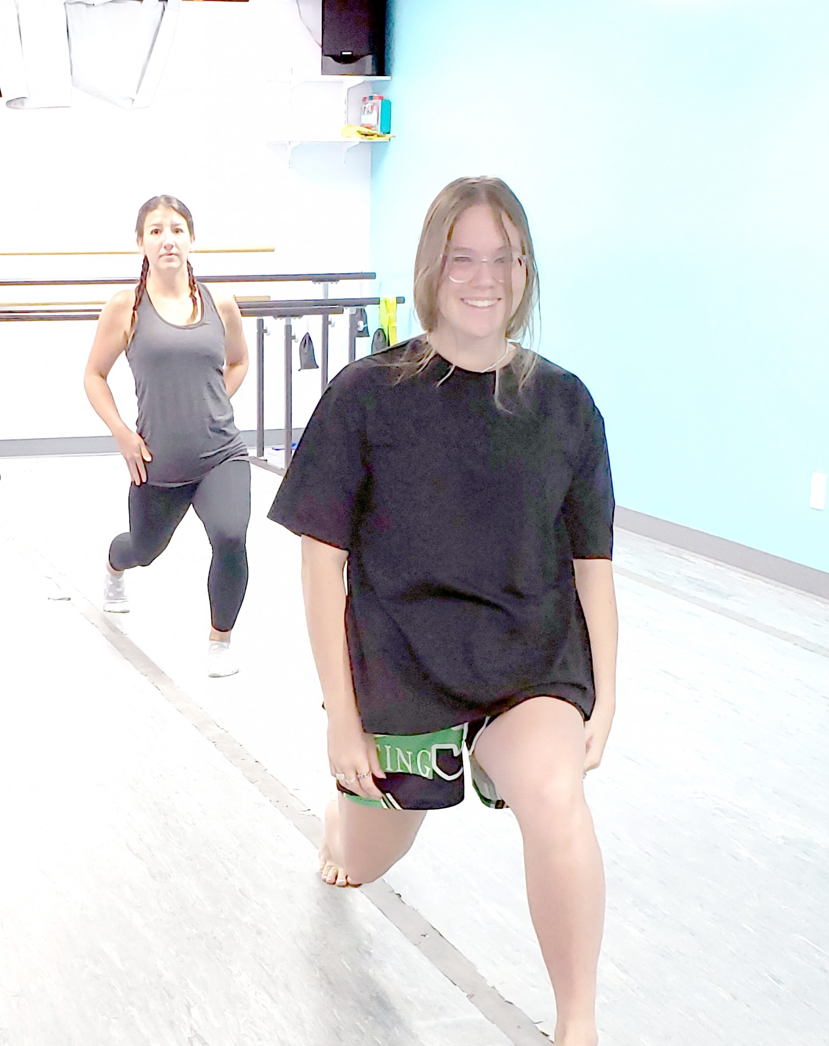 Star dancer Brittany Griffin rehearsing with her dance professional, Teagan Kelley, of Madison Street Dance prepare for Ottawa County Family Advocacy Center's Dancing with the Stars event. (Submitted photo)