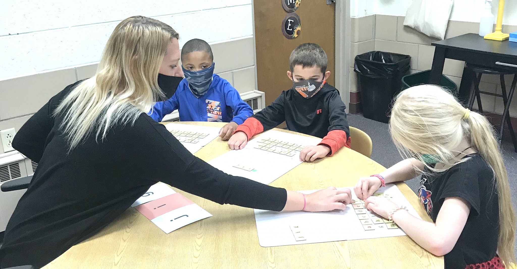 Rachel Terrell, intervention specialist with BCS Schools and students. (Submitted photo)
