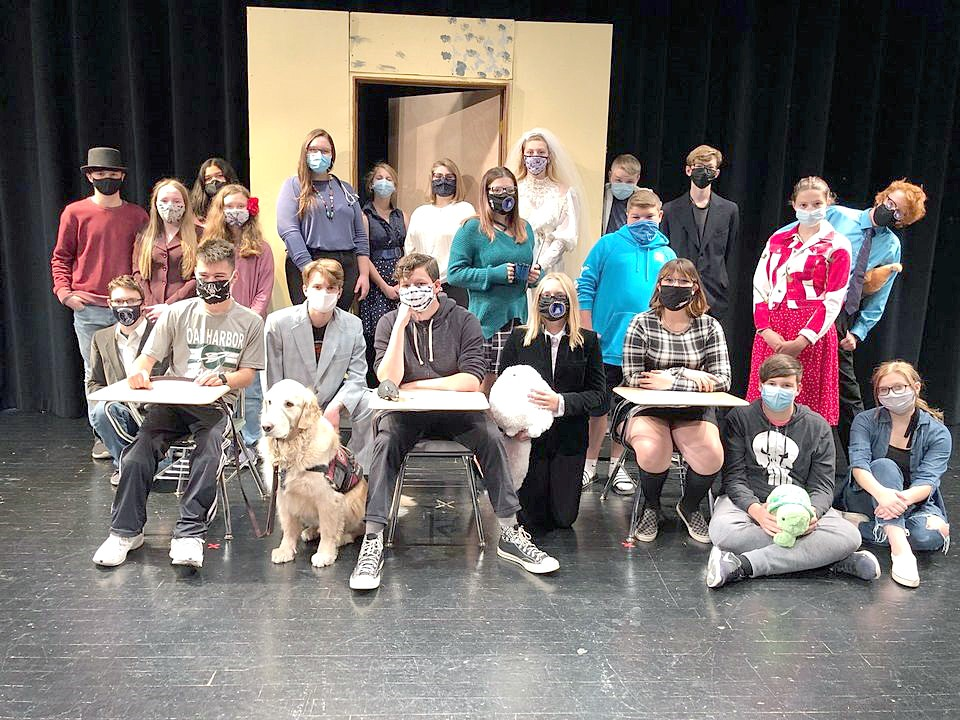 """The Oak Harbor Thespians will present their fall production of one-acts, """"It's Just a Stage,"""" Nov. 6 and 7 at 7:30 and Nov. 8 at 2 p.m."""