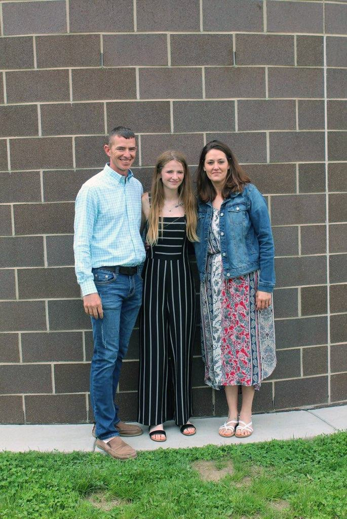 Travis Bowen, Emily Bowen and Sarah Miller at Emily's older brother, Joshua Bowen's high school graduation in 2019. (Photo courtesy Emily Bowen)