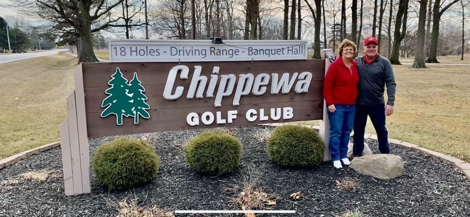 "New Chippewa Golf Club owners Roberta and Karl Orians (<a href=""http://www.Facebook.com/Chippewa"">www.Facebook.com/Chippewa</a> Golf Club)"