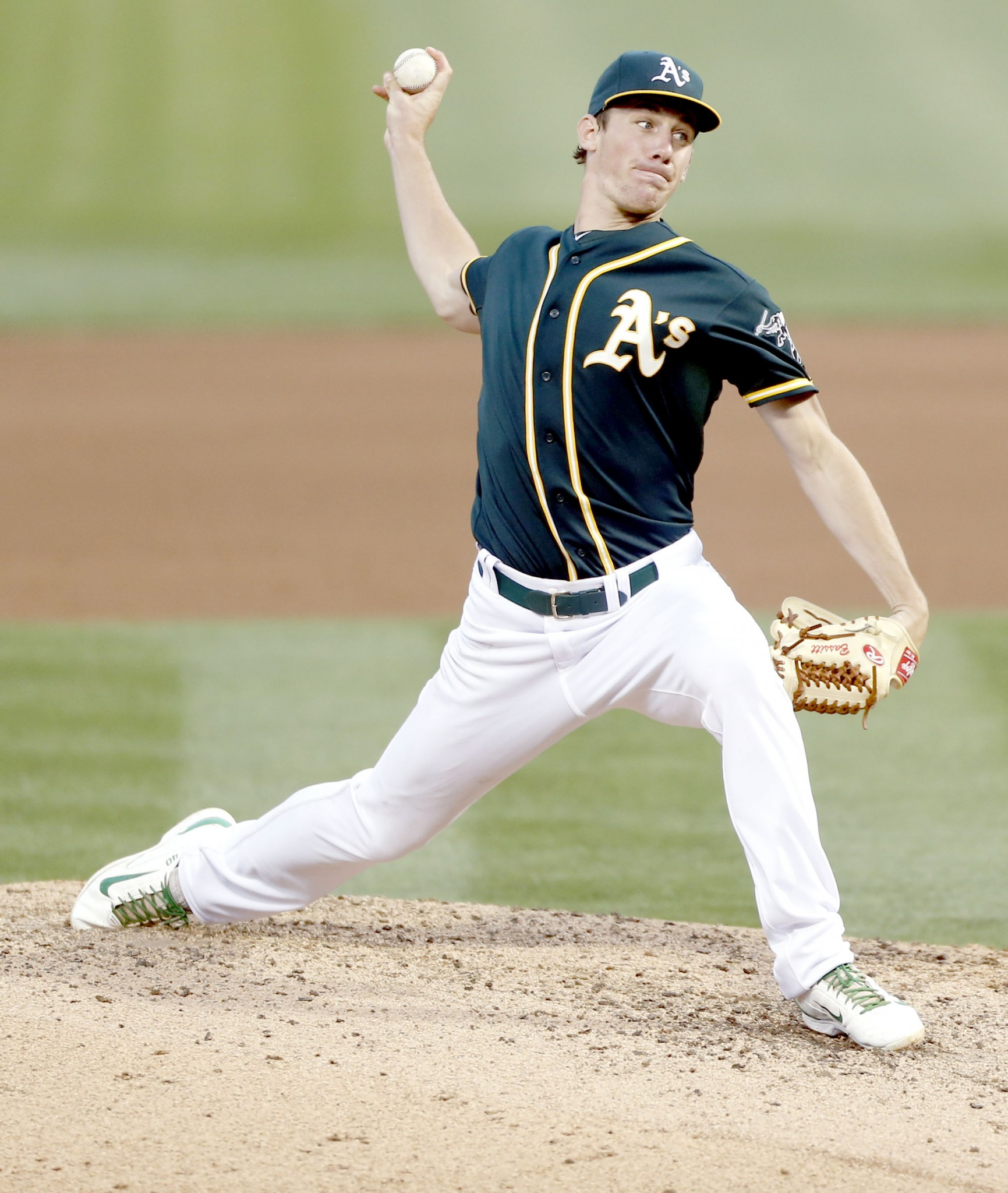 Oakland Athletics starting pitcher Chris Bassitt (Genoa/University of Akron). (Photo courtesy Oakland Athletics)