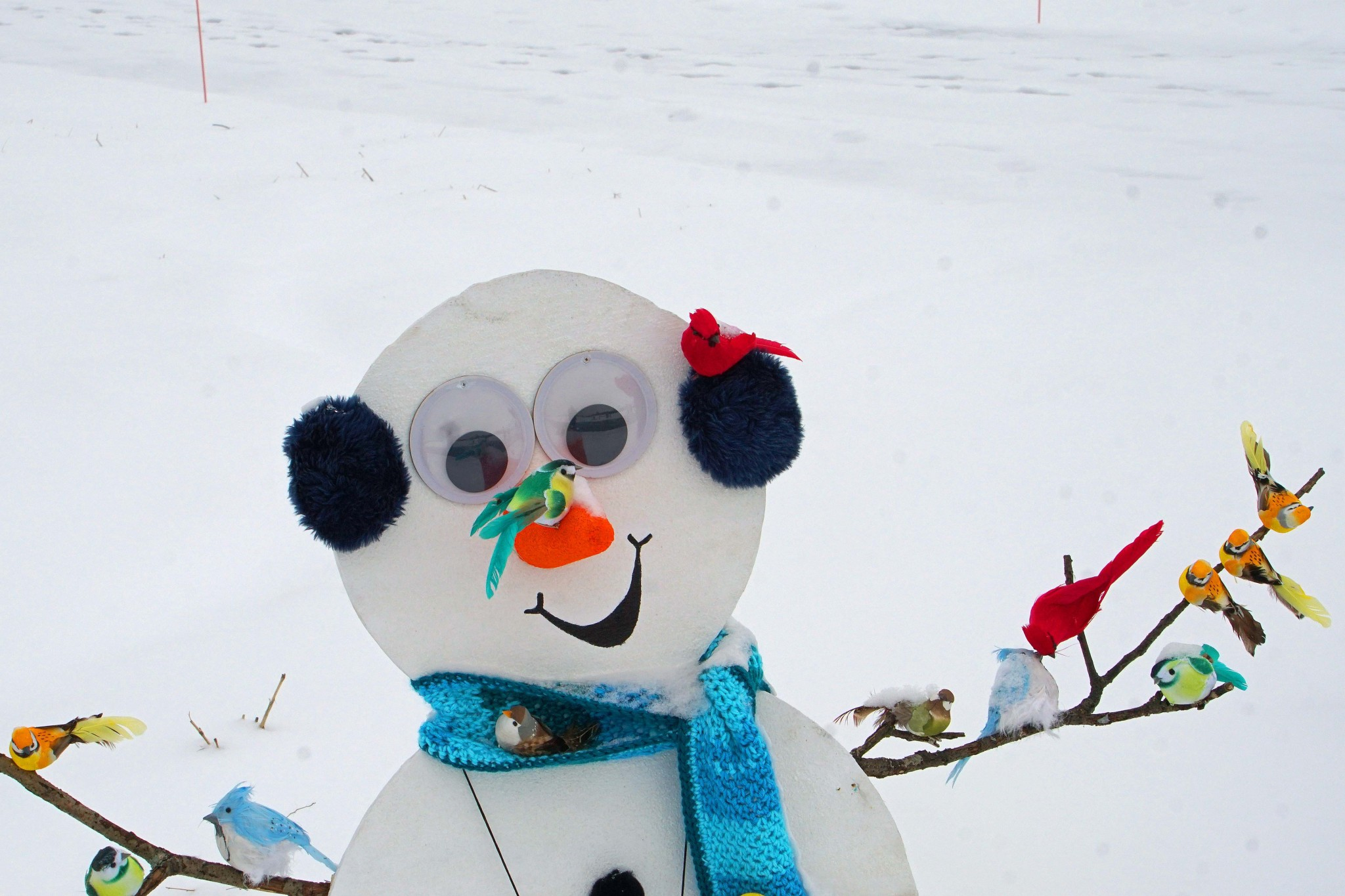 """There's """"Snow Place Like Metroparks"""" for a fun winter escape. Visitors to the New Glass City Metropark in East Toledo will find a display of more than 100 decorated Snow People displayed along the road for a drive-through experience. (Photo courtesy of Metroparks Toledo)"""
