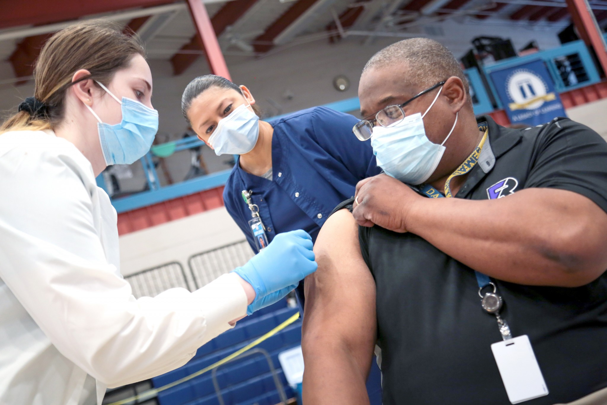 Terra State Community College medical assisting, nursing and health information technology (HIT) students and staff volunteered to help Sandusky County Public Health in their efforts to vaccinate school personnel at a clinic held Feb. 24.