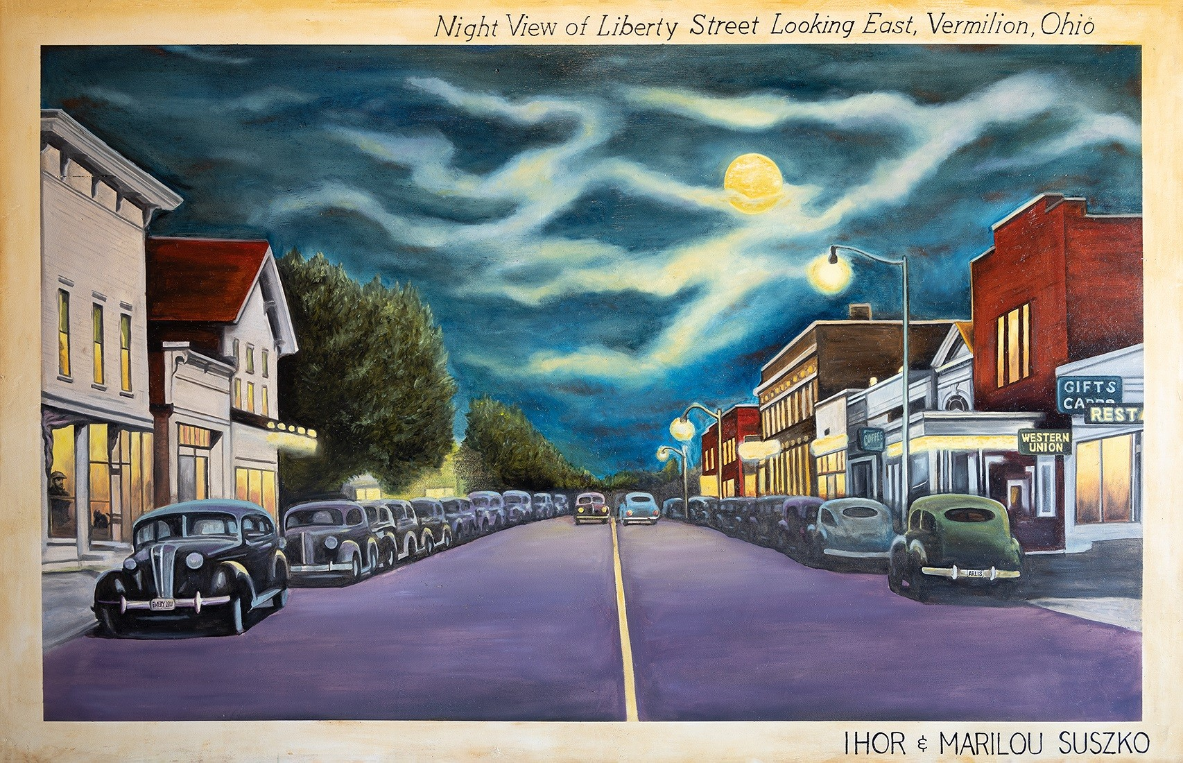 """""""A Busy Day on the Lagoons"""" is one of the views featured in Public Art Vermilion's award-winning Postcard Project, which features 15 mural-sized postcards of nostalgic scenes of Vermilion, Ohio. (Submitted photo)"""